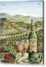 White Wine Lovers Acrylic Print by Marilyn Dunlap