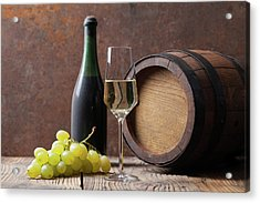 White Wine Acrylic Print by Sematadesign