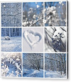 White Winter Acrylic Print