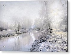 White Winter Acrylic Print by Svetlana Sewell