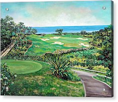 White Witch Golf Course #1 Hole #17 Acrylic Print