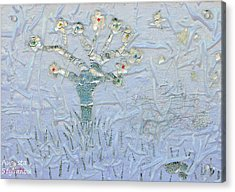 White World Acrylic Print by Augusta Stylianou