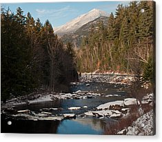 Whiteface Mountain At Monument Falls Acrylic Print