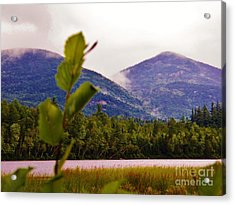 Whiteface Mountain In The Clouds 1 Acrylic Print by Judy Via-Wolff