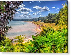 Whitefish Dunes State Park Beach In Door County Acrylic Print by Christopher Arndt