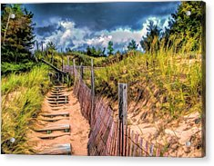 Whitefish Dunes State Park Stairs Acrylic Print