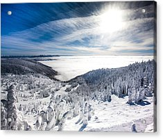 Whitefish Inversion Acrylic Print by Aaron Aldrich