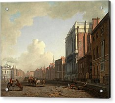 Whitehall, Looking Northeast London Signed Acrylic Print by Litz Collection