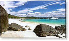 Whitehaven Beach Acrylic Print by Shannon Rogers