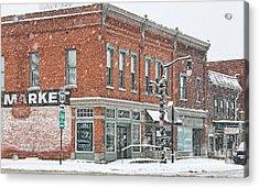 Whitehouse Ohio In Snow 7032 Acrylic Print by Jack Schultz
