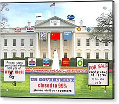 Whitehouse Sponsors  Acrylic Print by Robert Stagemyer