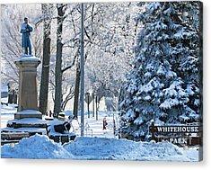 Whitehouse Village Park  7360 Acrylic Print