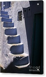 Whitewashed Steps In The Medina Of Asilah On Northwest Tip Of Atlantic Coast Of Morocco Acrylic Print
