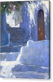 Whitewashed Steps  Acrylic Print by Jackie Simmonds