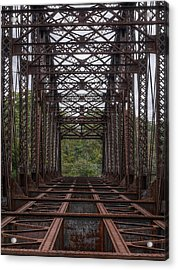 Whitford Railway Truss Bridge Acrylic Print by Richard Reeve