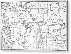 Whitman's Route Acrylic Print by Granger