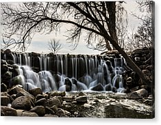 Whitnall Waterfall In Spring Acrylic Print