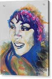 Whitney Houston Acrylic Print by Chrisann Ellis