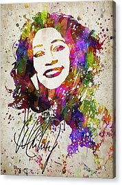 Whitney Houston In Color Acrylic Print