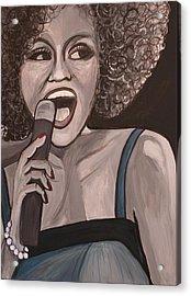 Whitney Houston Acrylic Print by Kate Fortin