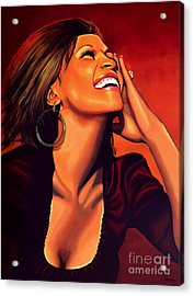 Whitney Houston Acrylic Print by Paul Meijering