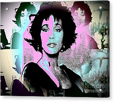 Whitney Houston Sing For Me Again Acrylic Print