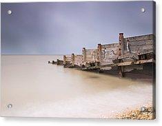 Whitstable Beach - Penguins Acrylic Print by Ian Hufton