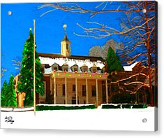 Whittle Hall At Christmas Acrylic Print