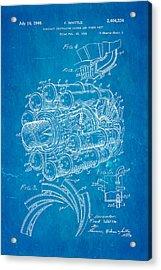 Whittle Jet Engine Patent Art 1946 Blueprint Acrylic Print by Ian Monk