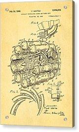 Whittle Jet Engine Patent Art 1946 Acrylic Print by Ian Monk