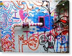 Who Dis Dis Me Graffiti  Acrylic Print by Amy Cicconi