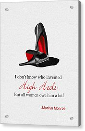 Who Invented High Heels? Acrylic Print by Rebecca Jenkins