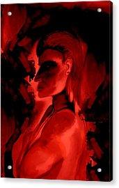 Who Is He Watching Acrylic Print by Marian Hebert