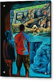 Who Is Watching Whom Acrylic Print by Peter Jackson