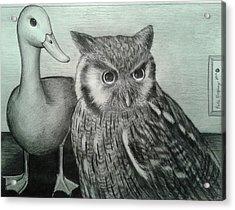 Who Quack Acrylic Print