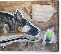 Who Rescued Who Acrylic Print by Melissa Torres