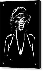 Who S That Girl Acrylic Print by Steve K