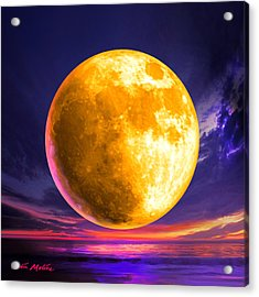 Whole Of The Moon Acrylic Print by Robin Moline