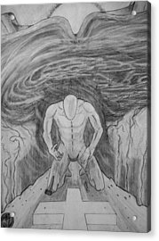 Acrylic Print featuring the drawing Whom Shall I Fear Part 1 by Justin Moore