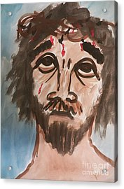 Why Have You Forsaken Me Acrylic Print by Judy Via-Wolff