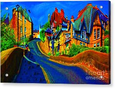 Acrylic Print featuring the photograph Wibbly Wobbly Village by Les Bell