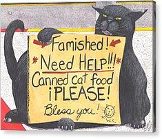 Wicked Kitty's Corner Acrylic Print by Catherine G McElroy