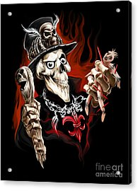 Wicked Voodoo Doctor Acrylic Print