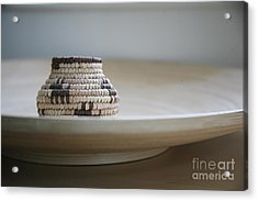Wicker On Wood Acrylic Print