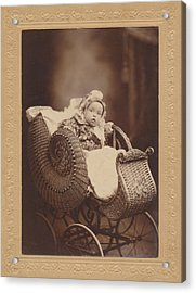 Acrylic Print featuring the photograph Wicker Pram by Paul Ashby Antique Image