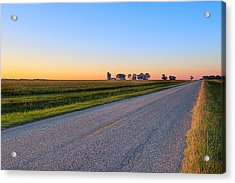 Wide Open Roads - Rural Georgia Landscape Acrylic Print by Mark E Tisdale
