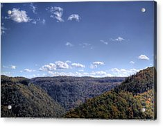 Wide Shot Of Tree Covered Hills Acrylic Print