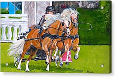 Acrylic Print featuring the painting Widescreen Hickstead by Janina  Suuronen