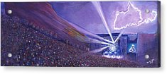 Widespread Panic Redrocks Lighting Acrylic Print by David Sockrider