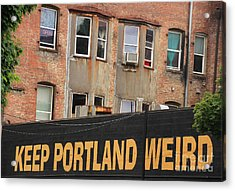 Weird And Wonderful Portland Acrylic Print by Kris Hiemstra